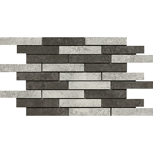 BIANCO-ANTHRACITE MIX MOSAIC